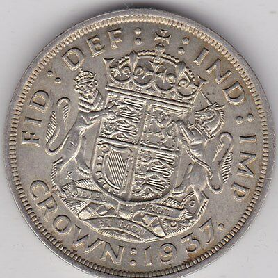1937 George Vi Silver Crown In Good Extremely Fine Condition