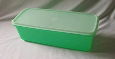 Vintage C1970's Large Green Tupperware Container - Plastic Canister
