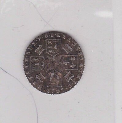 1787 George Iii Silver Sixpence With Hearts Good Very Fine Or Better Condition