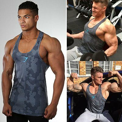 New Mens Muscle Bodybuilding Singlets Gym Sport Crossfit Tank Top Vest Clothing