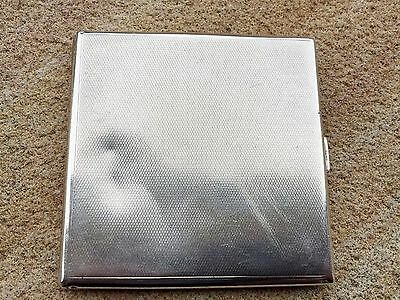 Goldsmiths & Silversmiths Art Deco Silver Cigarette Case - 1930.