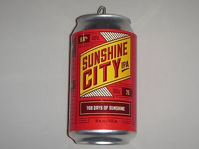 Sunshine City IPA, Green Bench Brewing, Florida, Empty 12oz Craft Beer Can 768