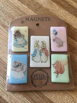 Beatrix Potter Characters Peter Rabbit 5 Magnets A28080 - New