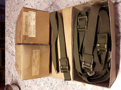 box of 25 NOS cotton straps w/buckle,m38,m38a1,MB,GPW,G503,G720