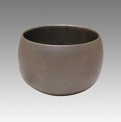Silver Glaze - Japanese Pottery Tea Cup : 5chawan - Japanese ceramic
