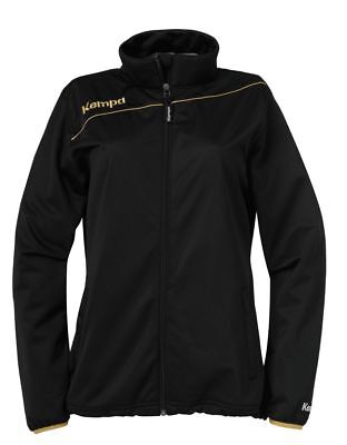 Kempa Womens Ladies Gold Sports Classic Full Zip Jacket Tracksuit Top Black ...