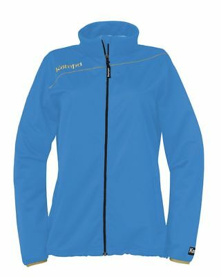 Kempa Womens Ladies Gold Sports Classic Full Zip Jacket Tracksuit Top Blue Gold