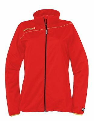 Kempa Womens Ladies Gold Sports Classic Full Zip Jacket Tracksuit Top Red Gold