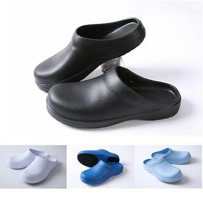 Men Women Chef Shoes Kitchen Nonslip Safety Shoes Oil & Water Proof For Cook U