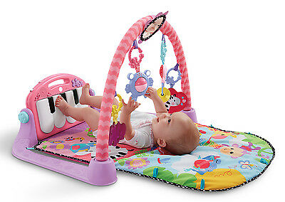 New Fisher-Price Kick and Play Piano Gym Pink Standard Packaging