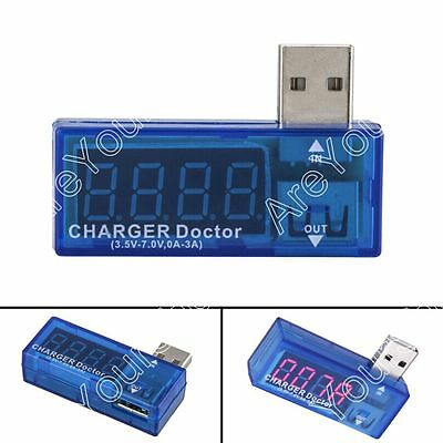 KW-201 Digital USB Charger Current Voltaje Metro Tester Power Detector Azul