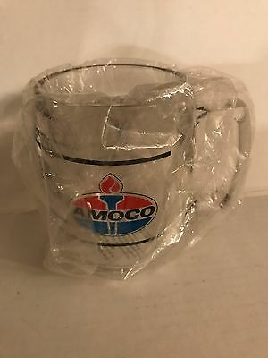 NEW AMOCO Project Focus Clear Red White Blue Plastic Coffee Travel Mug