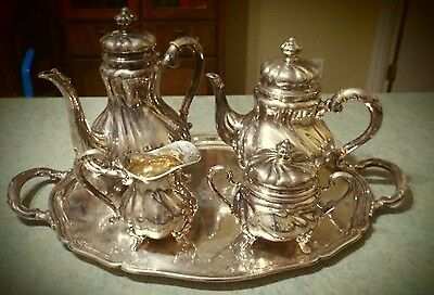 Vintage Sterling Silver Tea Coffee Service 5pc Set Stamped Tiffany & Co.