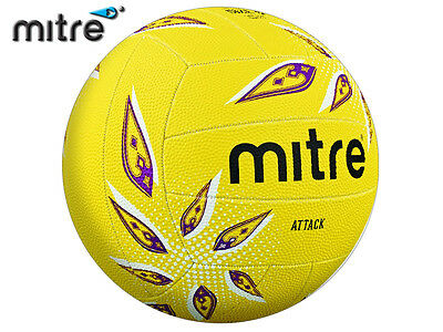 *brand New* Mitre 2017-18 - Attack Training Netball - Yellow/white/purple