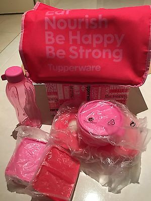 *BRAND NEW – BARGAIN PRICE* TUPPERWARE WOMENS LUNCH TO GO SET Pink/red
