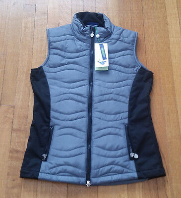 Women's Grey/Black Daily Sports Vest Size Small