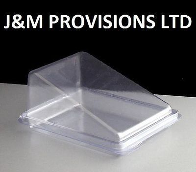 500x Clear Plastic Cake Slices, Wedge , Box Container deli.  REDUCED