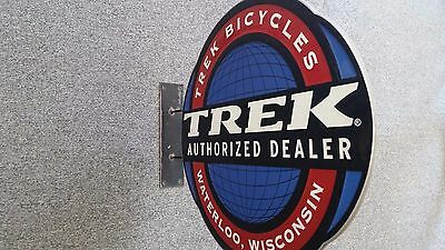 Trek Bicycle Authorized Dealer Store Double Sign Aluminum And Base