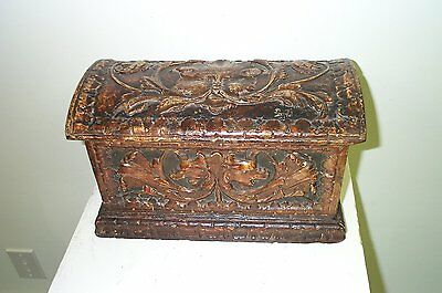 Venetian Carved Dome Lid Box, 18th C.