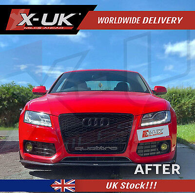 Front Grill Quattro Black Edition For Audi A5,s5 To Rs5  2007-2012