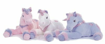 """Large 13"""" Unicorn Plush Soft Toy Cuddly in 3 assorted Colours Luxury soft toy"""