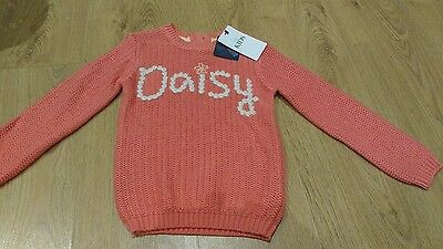 Bnwt Girls Jumper Age 5-6 Marks And Spencer - Daisy Design
