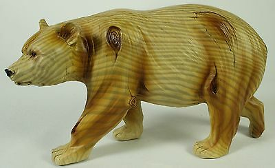 FAUX WOOD CARVING BEAR FIGURE Statue NEW Wildlife Brown Black Grizzly Polar Walk