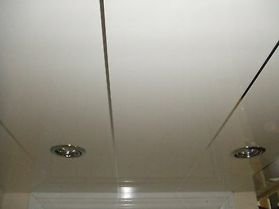 3m long gloss white with chrome strip decorative bathroom wall ceiling cladding