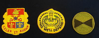 Vintage Lot of 3 Army Patches