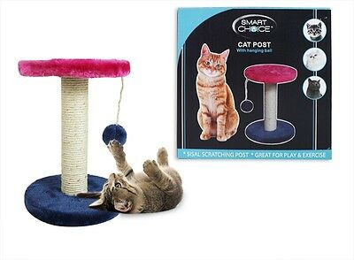 Small Cat Kitten Play Post With Hanging Ball Toy Sisal Scratch Post