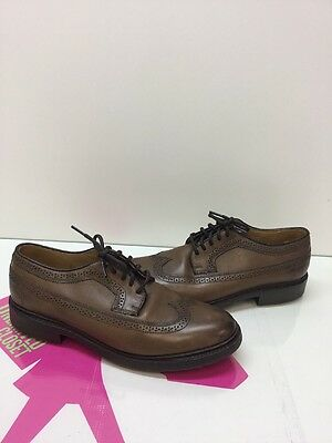 FRYE Oxfords Wingtip Shoes Men's Brown Leather Lace Up Size 10B