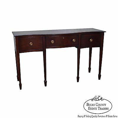 Wright Table Company Mahogany Serpentine Federal Style Sideboard