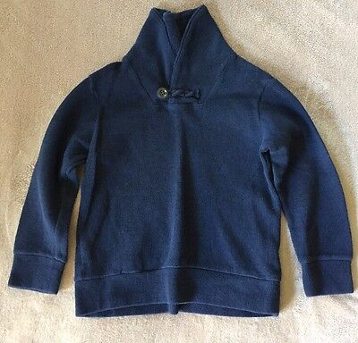 Boys Baby Gap Navy Blue High Neck Ribbed Sweater Size 4
