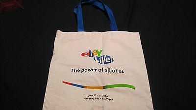 eBay Live! Tote Bag Canvas Power of All of Us June 13-15 2006 Las Vegas Mandalay