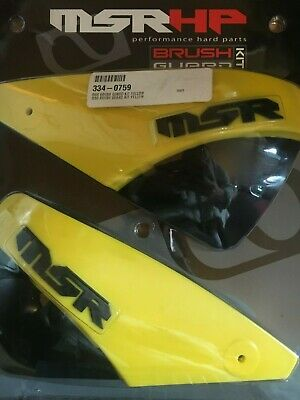 Msr Hand Brush Guards Yellow Scooter / Motorcross / Atv Complete Kit *