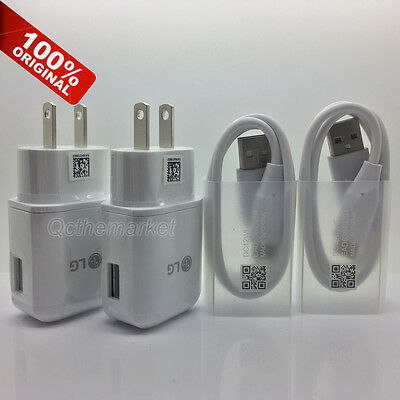 Original Fast Charging Wall Charger&USB Type C Data Cable Cord For LG G5 LG V20