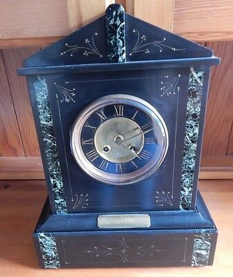 Exceptional Antique Large Slate / Marble Mantle Clock