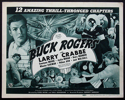 Buck Rogers Buster Crabbe Sci-Fi Serial 1938 Title Card