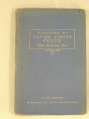 1942 Yeoman Handbook of U.S. Coins First Edition