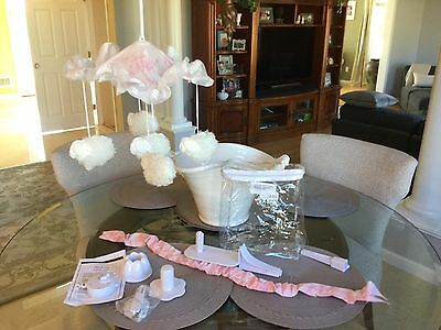 HEAVEN SENT Cotton Tale MUSICAL MOBILE HGMO PINK & WHITE girl
