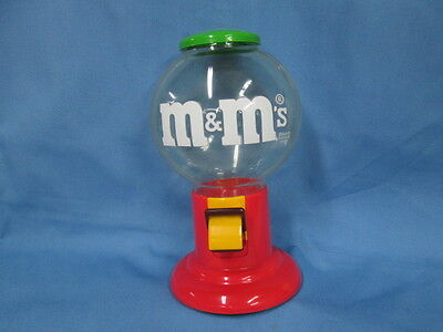 M & M Candy Dispenser/Gumball Machine Plastic  1991 Mars Corp.  9""