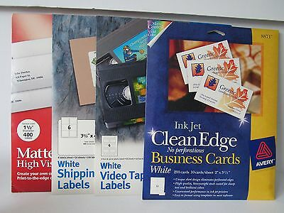 Avery Office Products Lot Shipping Labels VHS Labels & Business Cards New
