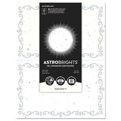 Astrobrights® Foil Enhanced Certificates, 8.5x11, Stardust White/S 759598911105