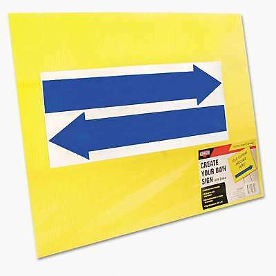 COSCO Stake Sign, Blank, Yellow, Includes Directional Arrows, 15 x 039956982276