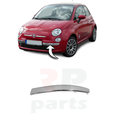 New Fiat 500 Front Lower Bumper Chrome Molding Left N/s 2007-2014 735455056