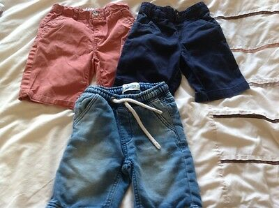 3 X Pairs Of Boys Shorts Age 3-4 Years