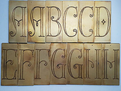 "Vintage New Hermes 35-327 (old #17) 2 3/4"" Engraving Font - Parisian style"