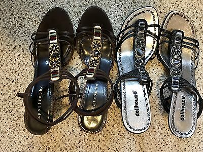 Women's High Heel Dress Shoes Lot Of Two Pair, Size 10