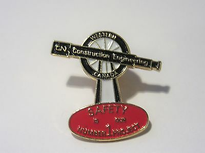 CN Rail Western Canada Engineering Construction Department Pin 1980's