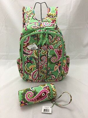 Vera Bradley Rare Tutti Frutti Baby Backpack Diaper Bag & Bottle Caddy NWT